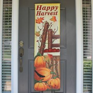 "Fall ""Happy Harvest"" Wall/Door Hanging"